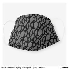 I'm into black and gray tones pattern cloth face mask Drops Patterns, Black And Grey, Gray, Shape Of You, Clothing Patterns, Snug Fit, Sensitive Skin, Face Masks, First Love