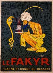1921 Original French Art Nouveau Poster, Fakyr - Mich