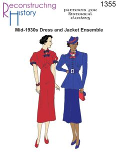Find new vintage suits for women - skirts, dress, pants and jackets for the office. Work wear clothes for vintage women's fashion. Vintage Clothing Display, Cape Cardigan, Vintage Inspiriert, Art Deco Dress, 1930s Dress, 1930s Fashion, Vintage Fashion, Dress Sewing Patterns, Clothing Patterns