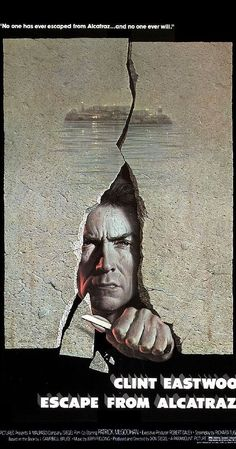 Directed by Don Siegel.  With Clint Eastwood, Patrick McGoohan, Roberts Blossom, Jack Thibeau. Alcatraz is the most secure prison of its time. It is believed that no one can ever escape from it, until three daring men make a possible successful attempt at escaping from one of the most infamous prisons in the world.