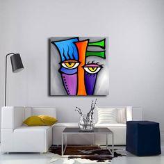 CANE astratto su tela stampa originale moderno pop Art pittura contemporanea di Fidostudio - Peepers
