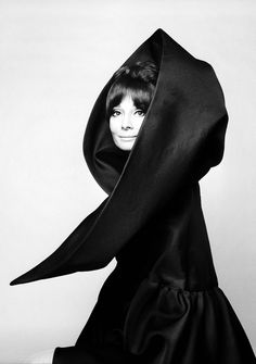 Audrey Hepburn dressed in Valentino for Vogue Italia, 1969. Photographs by Gian Paolo Barbieri.