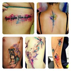 WaterColor Tattos ! Just Love Them !