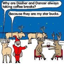 Christmas Humor | Santa's star bucks!  #santa #starbucks #coffeehumor...