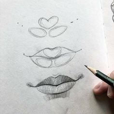 sketch lips step by step \ sketch lips ` sketch lips step by step ` sketch lips mouths ` sketch lips kiss ` sketch lipstick ` sketch lips cartoon ` sketch lips anime ` sketch lips easy Art Drawings Sketches Simple, Pencil Art Drawings, Realistic Drawings, Drawing Tips, Cool Drawings, Eye Drawings, Face Drawing Tutorials, Pencil Sketching, Drawing Faces