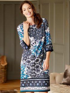 M&Co. Women Floral paisley border tunic dress