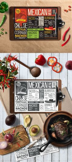 Creative mexican food menu template for your restaurant business with graphic food illustrations - tacos, burritos, nachos. Menu Restaurant, Mexican Restaurant Design, Seafood Menu, Bakery Menu, Restaurant Recipes, Food Menu Design, Food Truck Design, Mexican Food Menu, Mexican Food Recipes