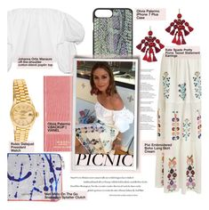 """""""Picnic in the Park/ Celebrity:Olivia Palermo"""" by merrygorounds ❤ liked on Polyvore featuring Johanna Ortiz, Meli Melo, Kate Spade, Rolex, GetTheLook, picnic, CelebrityStyle and polyvoreeditorial"""