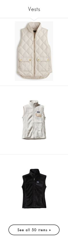 """Vests"" by sc-prep-girl ❤ liked on Polyvore featuring outerwear, vests, jackets, tops, coats, slim fit vest, lightweight vest, petite vests, pink down vest and quilted zip vest"