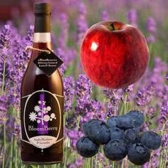 Apple, Blueberry & Lavender juice from the Bloomberry Juice Company