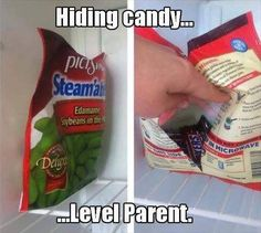 Genius way to hide chocolate from my husband (but I will do this in the pantry as I like my chocolate room temp - perhaps in a pasta box or something... ;-]