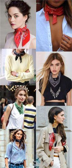 Trendy how to wear a bandana outfit summer Ideas Look Fashion, Fashion Beauty, Girl Fashion, Fashion Outfits, Womens Fashion, Fashion Tips, Fashion Trends, Feminine Fashion, French Style Fashion