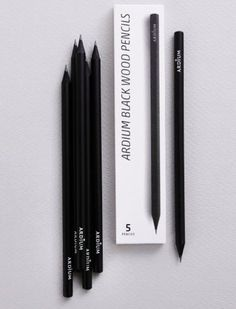 Ardium Black Pencil Set #packaging #minimalism loved at @rockcandymedia #theantitemplate