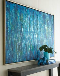 painting art abstract home decor decor decoration oil painting blue design interior design interiors product