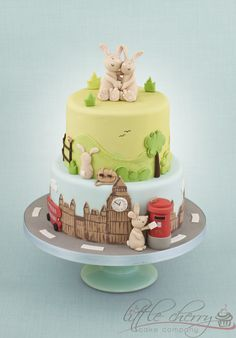 Rabbit Wedding Cake - by littlecherry @ CakesDecor.com - cake decorating website