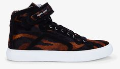 Pierre Hardy tiger print calf-hair sneakers ($775).