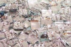 Alex's Textured Mirror Mix Hand Cut Glass Mosaic Tiles - Mosaic Tile Mania