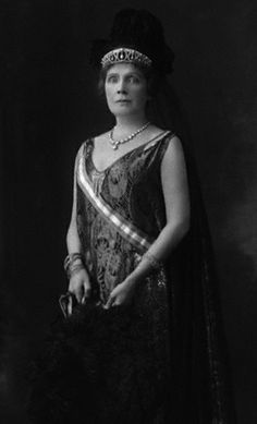 Infanta Eulalia of Spain, Duchess of Galliera and wife of Infante Antoinio, Duke of Galliera, wearing her Antique Pearl Tiara, France (pearls, diamonds). © National Portrait Gallery, London.