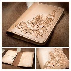 生活。照片。記錄 — 浪漫假期 - 玫瑰花護照皮套 #leather #leathercraft...
