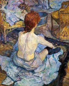 Femme à sa toilette de Toulouse Lautrec