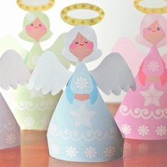 Little Angels Christmas Printable Ornaments