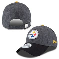 1faee9270 Stand out from the crowd this football season with this Pittsburgh Steelers  Elite Shoreline Adjustable Cap from New Era! This hat is all gray with a  black ...
