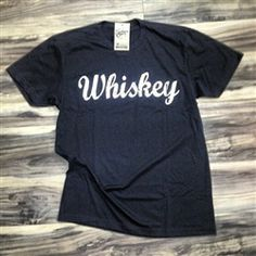 """Whiskey"" Soft Black Tshirt"