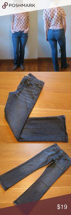 "[J. Crew Factory] Hip-Slung Jean 29R J. Crew Factory Hip-Slung Jeans 29R  > 98% Cotton / 2% Spandex > Boot leg cut > Super low rise waist > Medium wash > 5-pocket > Machine wash  Approximate Measurements (laying flat) Waist: 16"" Rise: 8"" Inseam: 31.25""  >> BUNDLE & SAVE << J. Crew Factory Jeans Boot Cut"