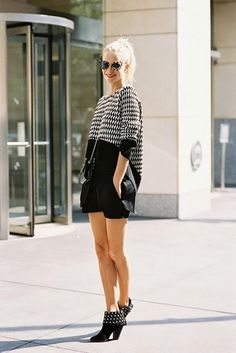 10. Polish off a low-key look with a preppy ponytail.    Street Style – Vanessa Jackman