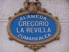 A Bilbao street sign, in both Spanish and Basque