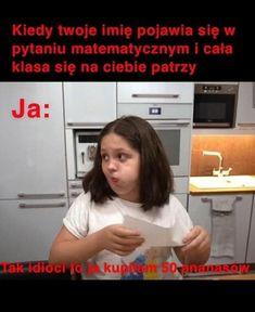 Funny Images, Funny Pictures, Funny Lyrics, Wtf Funny, Funny Jokes, Polish Memes, Dark Sense Of Humor, Weekend Humor, Funny Mems