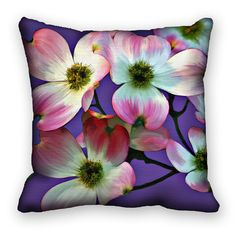 Items similar to Pillow Cover Dogwood Flowers Pillow Sham Pink Purple on Etsy Pillow Shams, Pillow Covers, Jesus Crown, Dogwood Flowers, Crown Of Thorns, Flower Pillow, Pillow Talk, Pink Purple