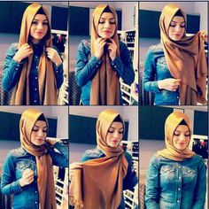 I have written Turkish hijab tutorial step by step for girls who want to adopt classy Turkish hijab style. These Turkish Hijab style steps are very easy. Turkish Hijab Tutorial, Hijab Style Tutorial, Islamic Fashion, Muslim Fashion, Hijab Fashion, Style Fashion, Stylish Hijab, Hijab Chic, Hijab Outfit