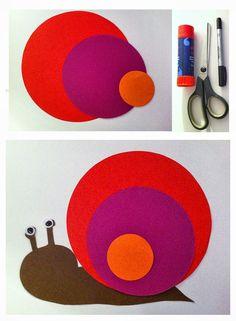 Kindergarten Snail-circles