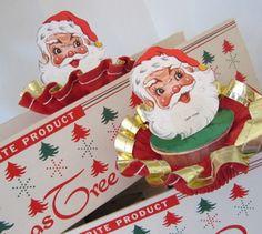 Vintage Santa Claus Nut Cups
