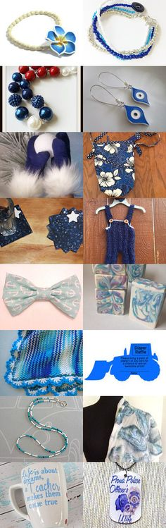 Blue and White by Julie and Kate on Etsy--Pinned+with+TreasuryPin.com