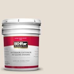 BEHR Premium Plus 5 gal. #73 Off White Hi-Gloss Enamel Interior/Exterior Paint