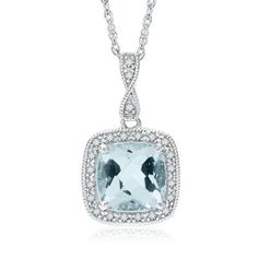My son gifted me a couple years ago with a beautiful blue fire topaz and diamond necklace for my birthday -  from Helzberg Diamonds.