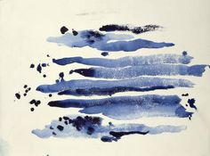 Untitled (Abstraction Blue Lines)  Watercolor on paper, 1970