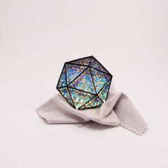 Icosahedron 1 Brooch-Pin by Mmmkey on Etsy