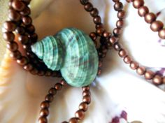 Turquoise shell necklace with copper beads by Richarme - my favorite jewelry designer