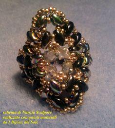 with golden shadow Swarovski crystals
