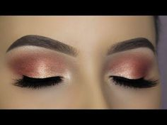 JACLYN HILL X MORPHE PALETTE - Rose Gold Cut Crease Tutorial - YouTube