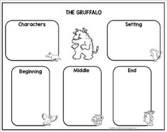 Gruffalo Activities, Writing Activities, Shared Reading, Guided Reading, The Gruffalo Book, First Grade Writing, Preschool At Home, Handwriting Practice, Read Aloud