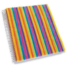 Fuzzy Pipe Cleaner Notebook | 37 Awesome DIYs To Make Before School Starts