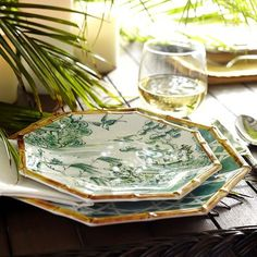 Chinoiserie Melamine Dinnerware - Turquoise