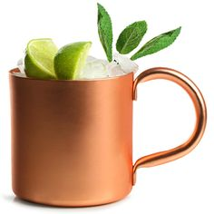 With a stylish copper finish, the Moscow Mule Copper Mug offers the perfect way to serve the classic mule cocktail. With a unique, rustic twist, this metal tankard is the perfect home for traditional Moscow Mules or even a julep. An extra large handle creates an easy grip, perfect for when your copper cups are extra frosty.