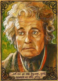 Bilbo's storytelling by Soni Alcorn-Hender Hobbit Art, O Hobbit, Lord Of Rings, Midle Earth, Concerning Hobbits, The Hobbit Movies, Gandalf, Legolas, Character Sketches