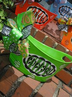monogrammed  basket, bucket.....great graduation gift , great for parties, wine, teacher gift, graduation,  wedding or bridal gifts