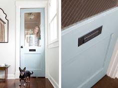 Dutch Tile Blue Paint | Old Door Makeover | The Lettered Cottage